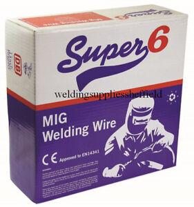 Gasless Flux Cored Mig Welding Wire 0.9mm x 4.5kg, SUPER 6