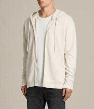 All Saints Mens Zip Thru Designer Hooded Sweatshirt Hoodie Oxole Hoody Sz Small