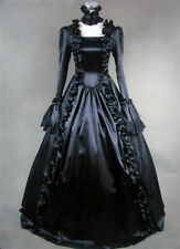 Lady Lolita Victorian Gothic Dress Ruffle Steampunk Evening Vintage Costume Chic