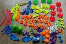 Niños Knex-Grande Paquete 130+ piezas Inc Alas, ojos, pies, rizado colas y más