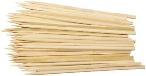 Reusable Bamboo Skewers Finger Sticks BBQ Grill Barbecue Wooden Stick 15CM