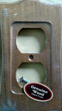 AmerTac Wall Plate Outlet Cover Wood Maple Finish
