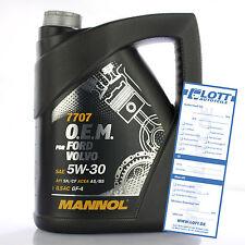 5L MANNOL Motoröl 5W-30 5W30 7707 O.E.M. Motorenöl FORD OPEL VOLVO API SN/CF
