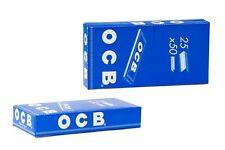 OCB Blau kurz (Zigarettenpapier) 2 Karton mit insgesamt 50 Heftchen à 50 Blatt