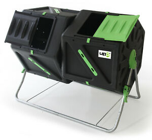 UPP Trommel Komposter 2 Kammern je 105L Schnellkomposter Rollkomposter Composter