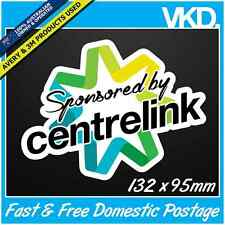 Sponsored By Centrelink Sticker/Decal - Funny Drift Bomb 4x4 Car Turbo JDM