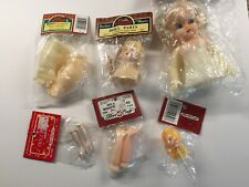 Lot 6 Vtg Doll Making Parts Arms Heads Body & Blonde Air Freshener Doll All New