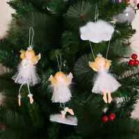 Hot Christmas Tree Hanging Ornament Cute Plush Angel Doll Pendant Kids Xmas Gift