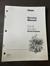ONAN RDJE RDJEA Spec A Diesel Engine Service Manual Book Shop Guide Overhaul