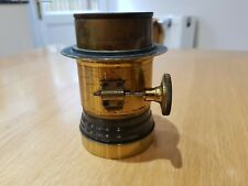 Vintage Camera Lens Lancaster & Sons Antique Brass