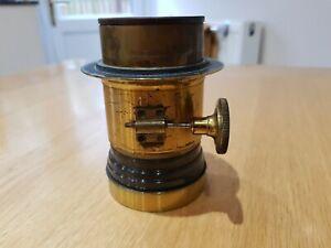 Vintage Camera Lens Lancaster & Sons Antique Brass