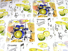 Drum Kit Wrapping Paper with 3 Sheets in a Pack - Musical Themed Paper