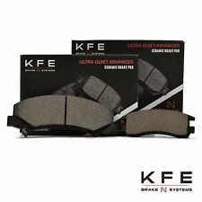 Premium Ceramic Disc Brake Pad FRONT + REAR NEW Set With Shims KFE1159 KFE698