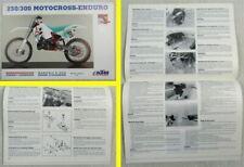 KTM 250 300 Motocross-Enduro Bedienungsanleitung Betriebsanleitung Handbook 7/91