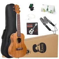 Ukulele Concert 23 Inch Mahogany Ukulele Hawaii Guitar Kit for Beginner
