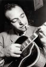 Django Reinhardt Poster, Smoking & Playing Guitar, Gypsy Guitarist