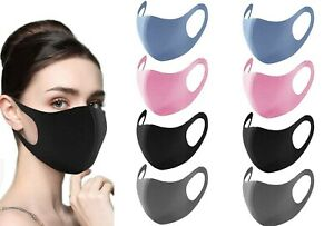 100 Color Fabric Face Cover 4 Pieces Black Grey Pink Blue by Protectafile