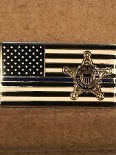 Secret Service - Thin Blue Line - Flag Lapel Pin - New - Clasp Pin Backing