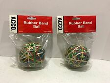 ACCO Rubber Band Ball 270 qty per Ball Assorted Colors A7072153  Set of 2