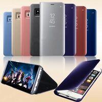 Cover flip case custodia a specchio per Apple Iphone 6s 7 8 X plus Xr Xs 11 pro