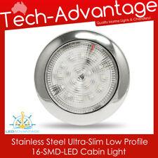 12V STAINLESS STEEL ULTRA SLIM 16-LED SURFACE MOUNT CABIN LIGHT - BOAT/CARAVAN