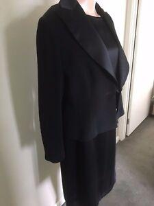 Trent Nathan Ladies Size 14 Formal Black Dress & Jacket RRP $650
