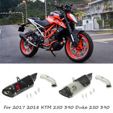For 2017 2018 KTM Duke 250 390 Motorcycle Exhaust Mid Tail Pipe Slip On Muffler