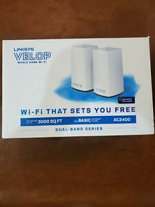 NEW Linksys Velop AC2400 Dual-Band Mesh Whole home Wi-Fi System up to 3000sq ft.