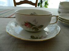 Rosenthal Classic Rose Collection Sans Souci Ivory Tea Cup & Saucer          6-4