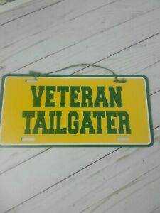 Green Bay Packers license plate veteran tailgater