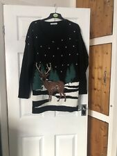 Peacocks Christmas Jumper XL