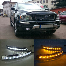 DRL FOR Volvo XC90 2007-2014 LED DAYTIME RUNNING LIGHT FOG LAMP WITH TURN SIGNAL