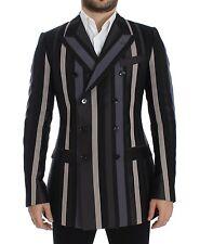 NEW DOLCE & GABBANA Blazer Jacket Multicolor Striped Wool Slim IT48 /US38