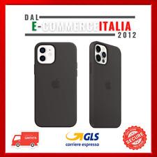 Cover ORIGINALE Apple iPhone 12/12 Pro Custodia silicone Nera