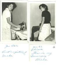 2 Original photos 1962 Okinawa soldier's housemaid UNEKO black & white