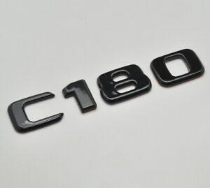 Gloss Black C180 Car Letter Number Rear Boot Badge Emblem For Mercedes Benz