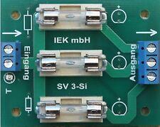 Stromverteiler 3-fach m Sicherungen, Sicherungshalter, Sicherung, Verteiler, IEK