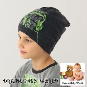 BEANIE boys hat spring autumn Knitted BOY KIDS 4-7 years CHILDREN CAP