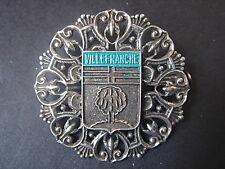 TRES BELLE BROCHE VILLE DE VILLEFRANCHE FILIGRANE VINTAGE 1970 NEUVE/NEW BROCH
