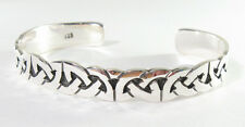 "925 sterling silver cuff bracelet Celtic knot design 3/8"" wide"