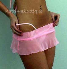 Sheer Baby Pink Mesh Booty Skirt/Pole Dancer/Stripper/Beach/Club/Made in usa/s-m