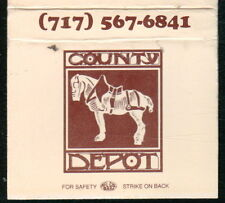 NEWPORT PA Country Depot Vintage Restaurant Match Book Cover Old Advertising MB