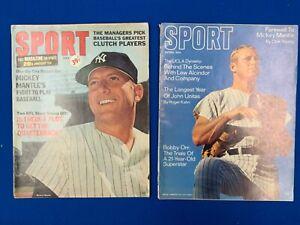 Mickey Mantle Sport Magazines (2) 1966 – 1969