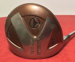 Taylor Made TI Bubble 2 Left Handed Driver 10.5* Steel Shaft Golf Club w Cover