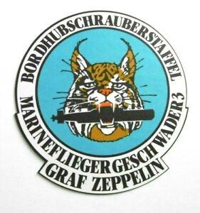 Werbe-Aufkleber Bordhubschrauberstaffel Graf Zeppelin Marineflieger Geschwader 3