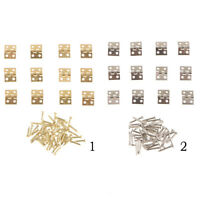12PCS Small Mini Butt Hinge Cabinet Drawer Jewerly Chest Gift Box Hinges