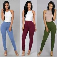 Sexy Women Denim Jeans Jeggings Ladies Skinny Stretch Pencil Slim Pants Trousers