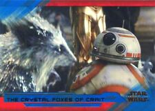 Star Wars Last Jedi S2 Blue Base Card #80 The Crystal Foxes of Crait