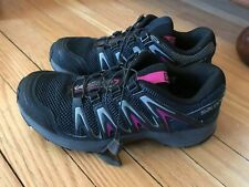 Women's Gray Navy with pink  Waking hiking Salomon Shoes Size US 7