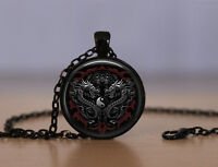 Yin Yang Pendant Necklace Dragon Chinese Philosopy Mens Womens